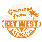Greetings from Key West stamp — Stock Vector