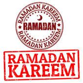 Ramadan kareem znaczki — Wektor stockowy