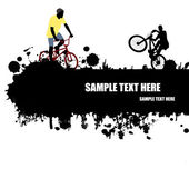 Cartaz de ciclismo grunge — Vetor de Stock