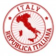 Italy stamp — Stock Vector #30340289