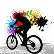 Cycling silhouette — Stock Vector