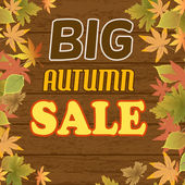 Big autumn sale — Stock Vector