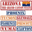 Arizona Cities stamps — Stock Vector