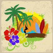 Tropische poster — Stockvektor