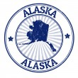 Alaska stamp — Stockvectorbeeld