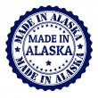 Made in Alaska-Briefmarke — Stockvektor