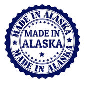 Made in alaska stamp — Stock Vector