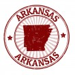 Stock Vector: Arkansas stamp