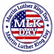 Martin Luther King Day stamp — Stock Vector