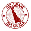 Stock Vector: Delaware stamp