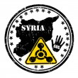 Distressed Syria Chemical Weapon stamp — Stock Vector