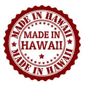 Made in Hawaii stamp — Stock Vector