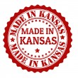 Made in Kansas stamp — Stock Vector #30576635