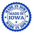 Made in Iowa stamp — Stock Vector