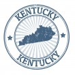 Kentucky stamp — Stockvectorbeeld