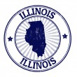 Illinois stamp — Stok Vektör