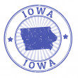 Iowa stamp — Stock Vector