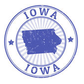 Iowa stamp — Vettoriale Stock