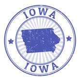 爱荷华州邮票 — 图库矢量图片