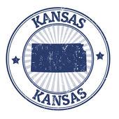 Kansas stempel — Stockvector