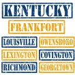 Kentucky Cities stamps — 图库矢量图片