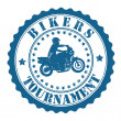 Bikers Tournament stamp — Stock Vector