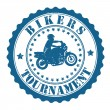 Bikers Tournament stamp — Vettoriali Stock