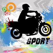Rider silhouette — Stock Vector