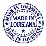 Made in Louisiana stamp — ストックベクタ #30628135