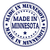 Made in Minnesota stamp — Stock Vector