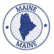 Maine stamp — Vettoriali Stock