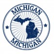 Michigan stamp — Image vectorielle