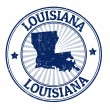 Louisiana stamp — Stock Vector