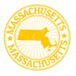 Massachusetts stamp — Stock Vector