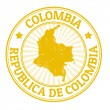 Colombia stamp — Stock Vector