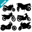 Sets of silhouette motorcycles — Stock Vector