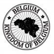 Belgium stamp — Stock Vector