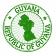 Guyana stamp — Stock Vector