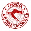 Croatia stamp — Stock Vector