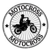 Motorcross stempel — Stockvector