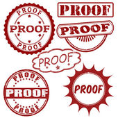 Set of proof stamps — Vector de stock