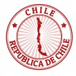 Chile stamp — Stock Vector