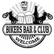 Bikers Bar and Club stamp — Stock Vector