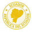Ecuador stamp — Stock Vector