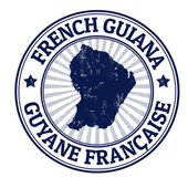 French Guiana stamp — Stock Vector