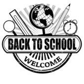 Back to School stamp — Stock Vector