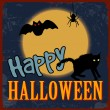 cartel de halloween feliz — Vector de stock