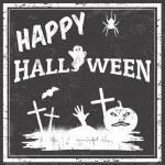 Happy halloween poster — Stock Vector