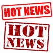 Hot News grunge rubber stamps — Stock Vector