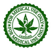 Medical marijuana stamp — Stock Vector